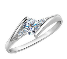 Fashion Sterling Silver CZ Diamond Jewelry Wedding Rings Rose Gold Charm Jewellery For Anillos Women Bijoux