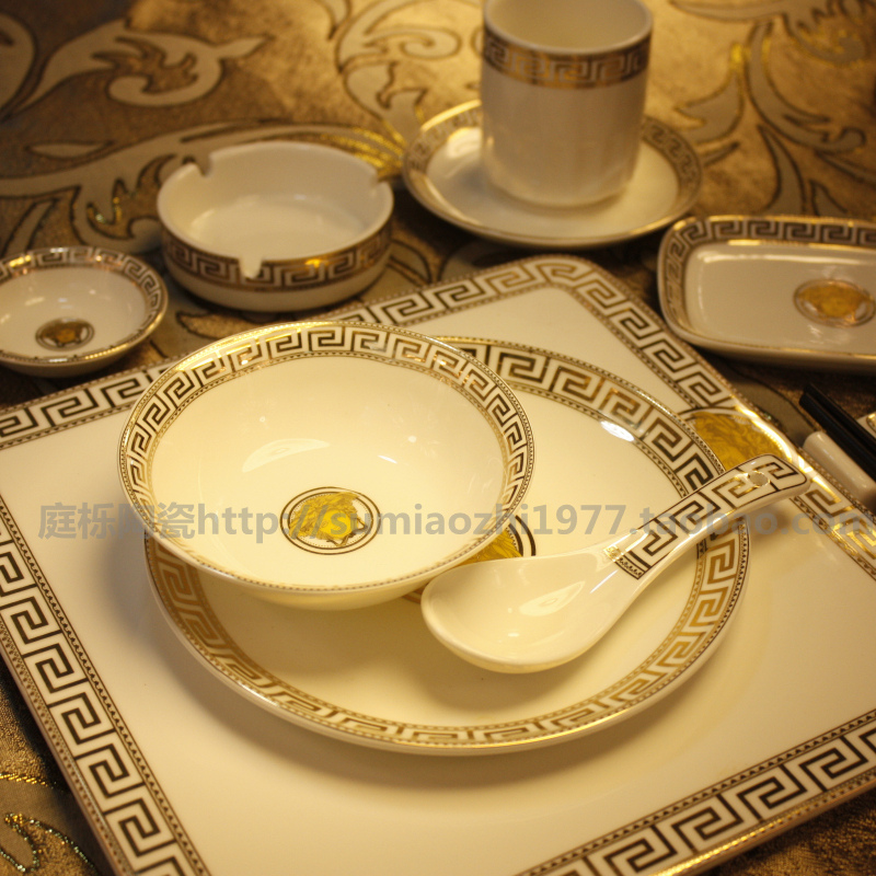 Quality plate luxury supplies ceramic dinnerware set swing sets tableware ind - Vaisselle de luxe marque ...