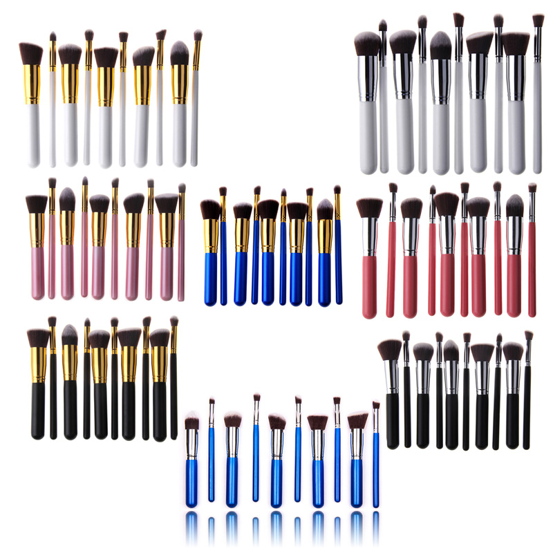 Гаджет  makeup brushes 10Pcs beauty pinceis de maquiagem profissional kabuki foundation makeup brushes make up brushes set high quality None Красота и здоровье