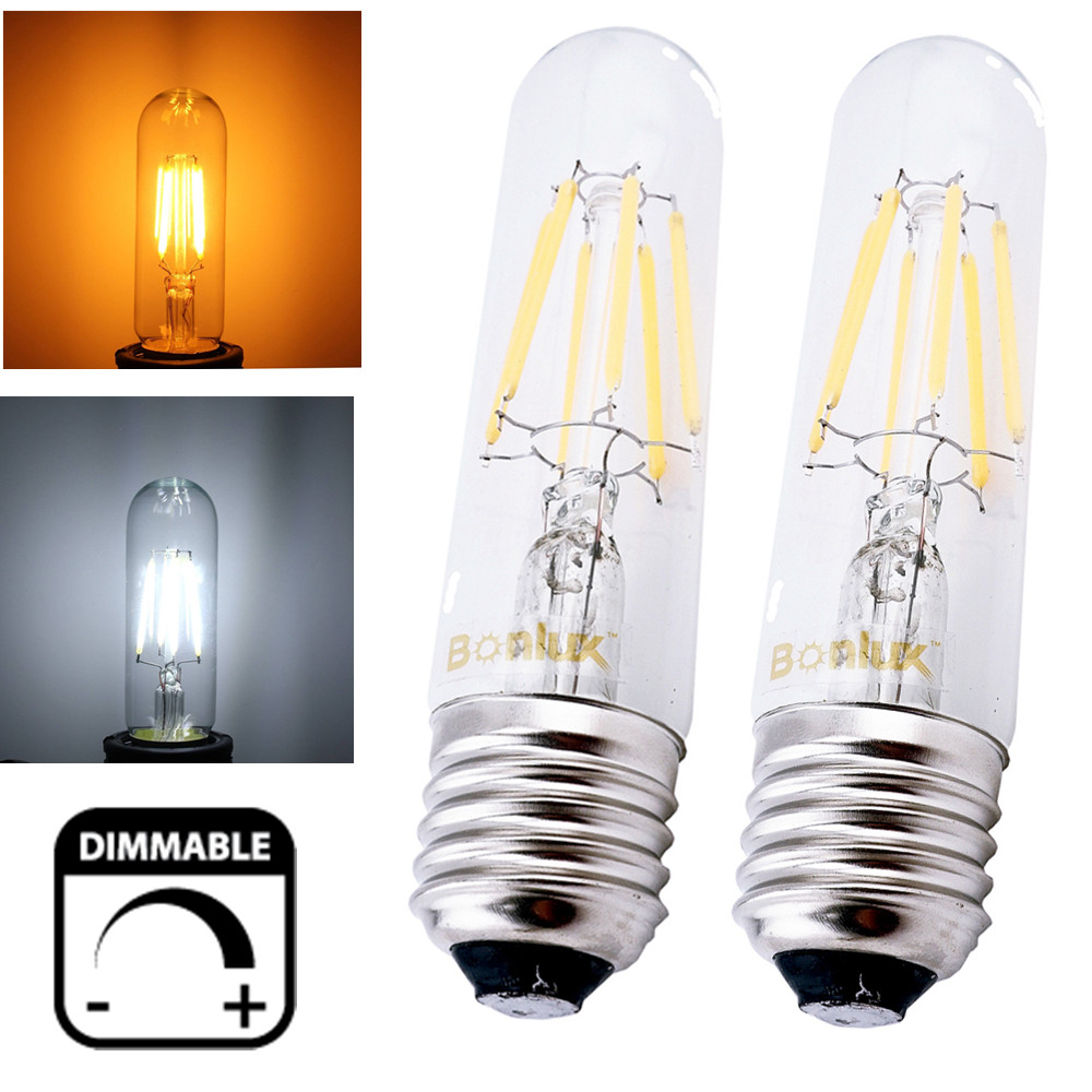 Dimmable T10 Tubular LED Filament Light Bulb E26 E27 Vintage Edison Bulb for t10 Incandescent Bulb Replacment(China (Mainland))