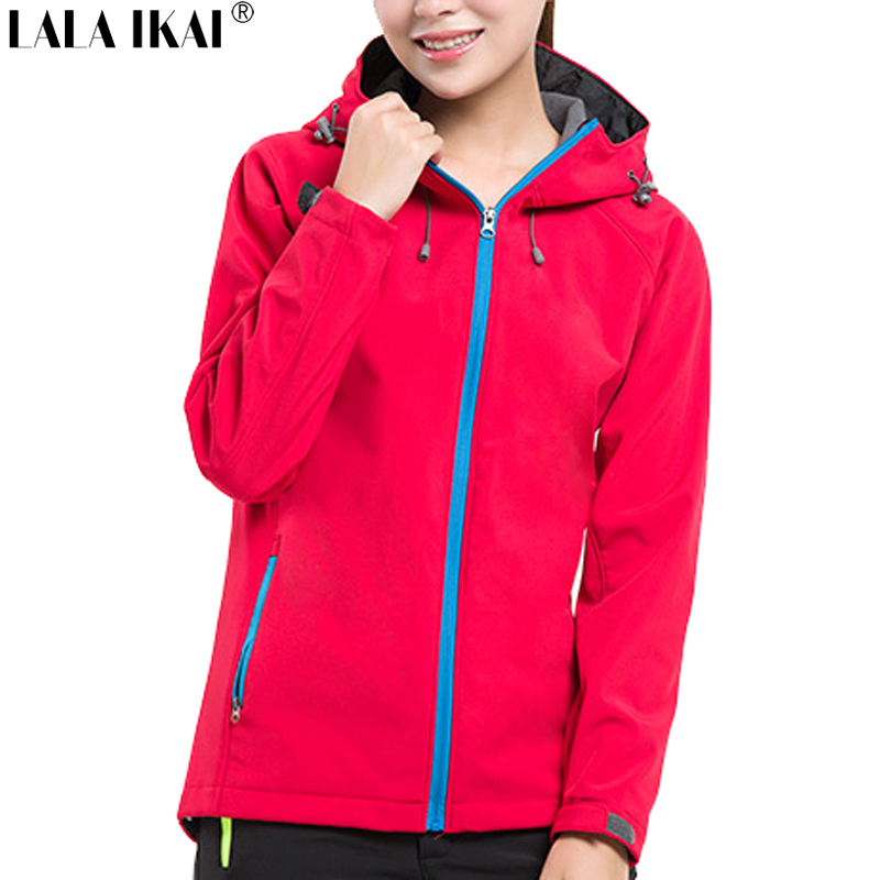 Hiking Jacket Travel Women Outdoor Sport Winter Warm Camping Fleece Jacket Trekking Camping Climbing Softshell Jacket  HWA0089-5<br><br>Aliexpress