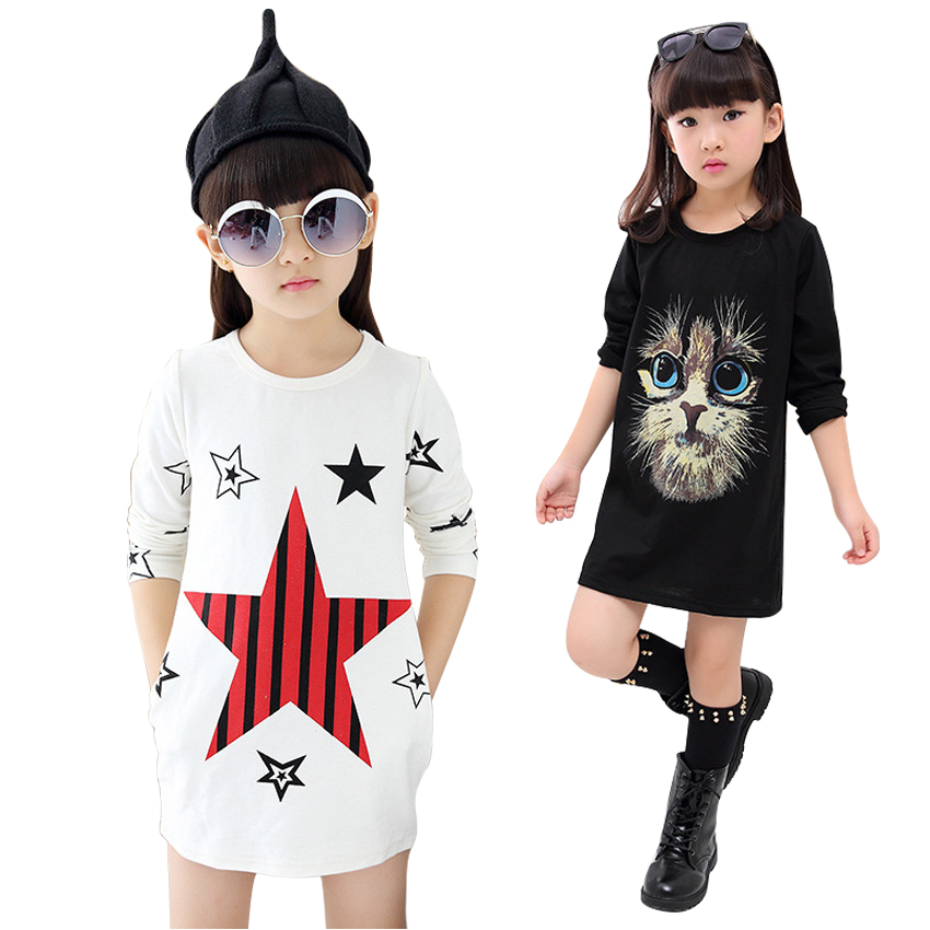T-Shirt For Girls Autumn Cotton Kids Clothes Casual Long Length Baby Clothes For Girls Full Sleeve Cute Cartoon Girls Clothes<br><br>Aliexpress