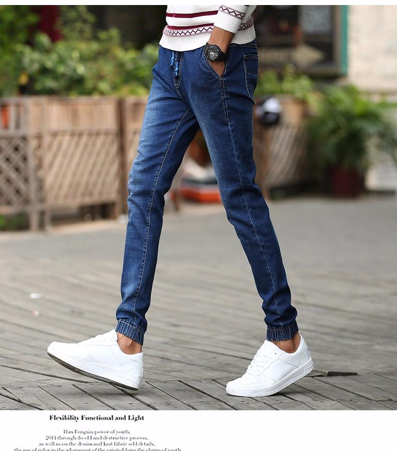 Скидки на Новый стиль Ретро-Ностальгии Синие Джинсы Стрейч Джинсовые осенние Досуг джинсы Известный Бренд Случайные штаны pantalones вакеро 965 2