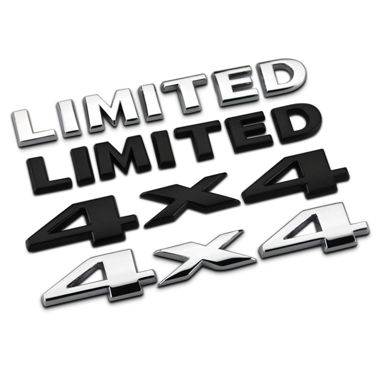 Car Stickers for Jeep 4X4 SUV 4WD LIMITED car logo four-wheel affixed label Wrangler jeep commander metal trailer Car Styling(China (Mainland))