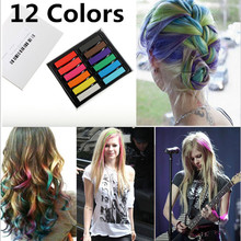 Z Fashion 12 Colors Non-toxic Soft Hair Crayons Pastel Kit Temporary Chalk Dye Personalized Beauty Hair Color for DIY Hair Style(China (Mainland))