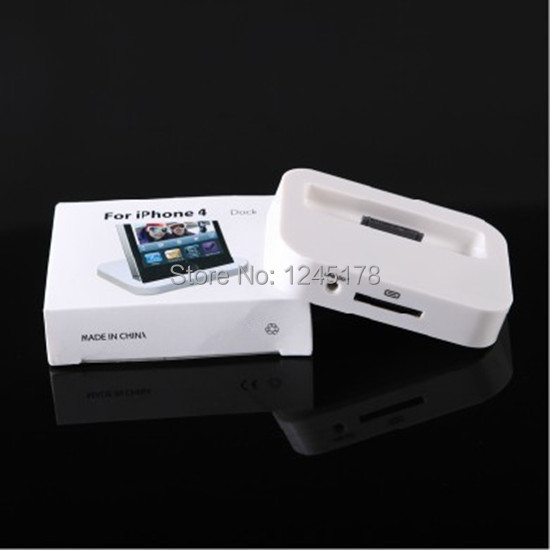 100pcs/lot white black color USB Sync Dock Cradle Chargers Charging Station for iPhone 4 for iPod Nano Touch Free Shipping DHL(China (Mainland))