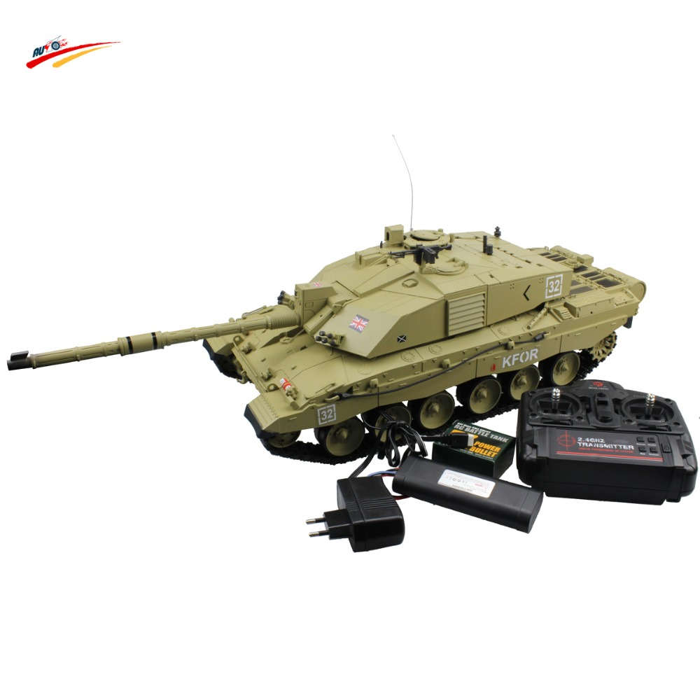 15 Channel Full Radio Control Function RC British Challenger 2 Main Battle Tank with BB + Smoking + Sounding(China (Mainland))