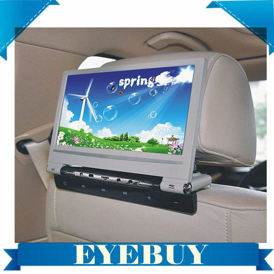 9 inch Touch key Car Auto DVD Player Headrest Monitors 800x480 32bit Game car dvd video player IR FM game speaker USB SD(China (Mainland))