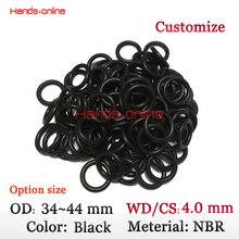 Buy Optional 10x CS4.0mm x OD 34 35 36 37 38 39 40 41 42 43 44mm NBR Rubber O ring O-ring Oring Seal Round Rubber Washer for $1.95 in AliExpress store