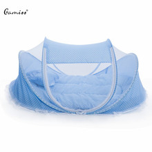 2016 Hot Sale Cute Baby Crib 4pcs Portable Type Comfortable Babies Pad with Sealed Mosquito Net Lowest Price Baby Mosquito Net(China (Mainland))