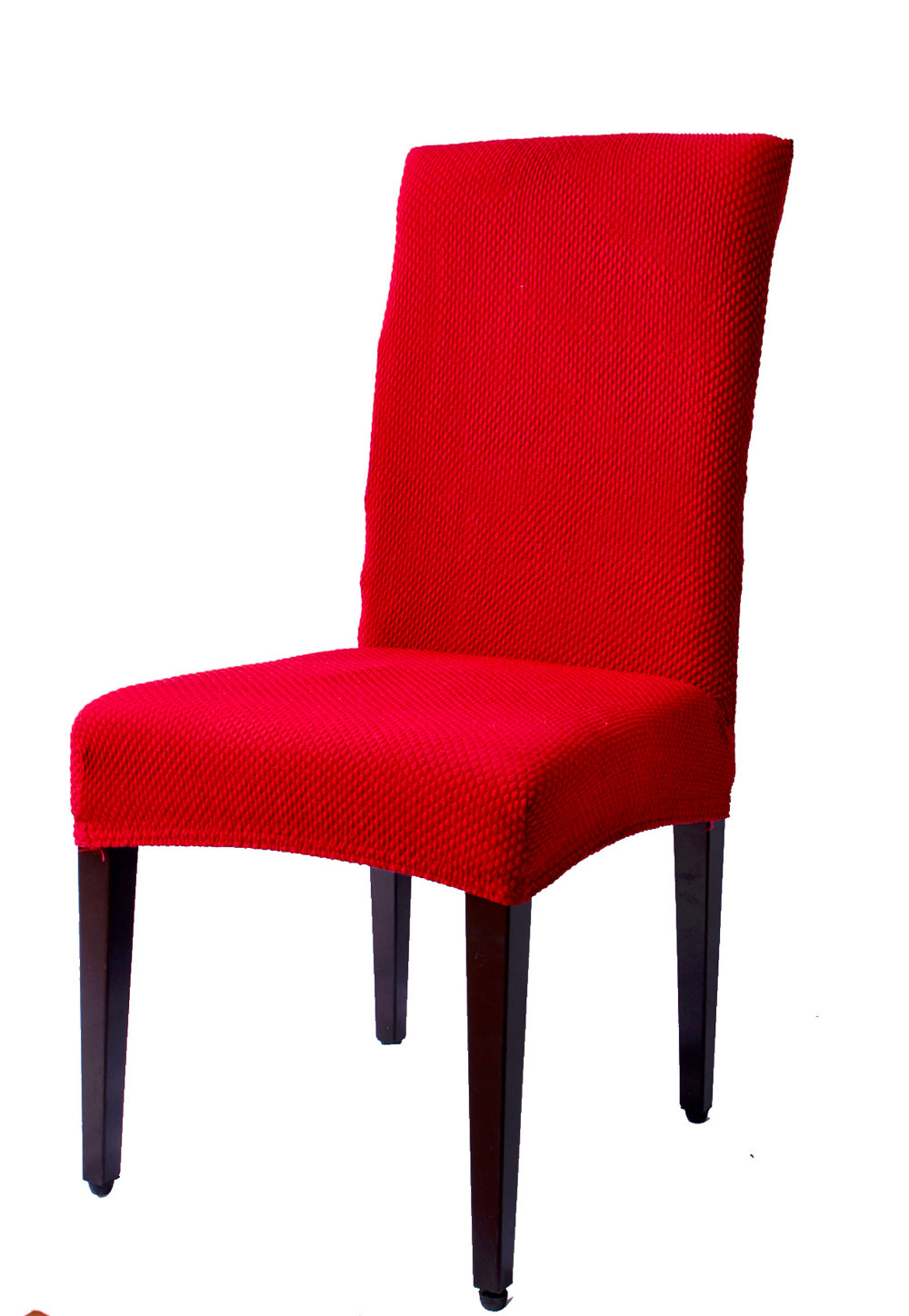 Dining room decorate spandex jacquard fabric dyed chair for Dining room chair covers