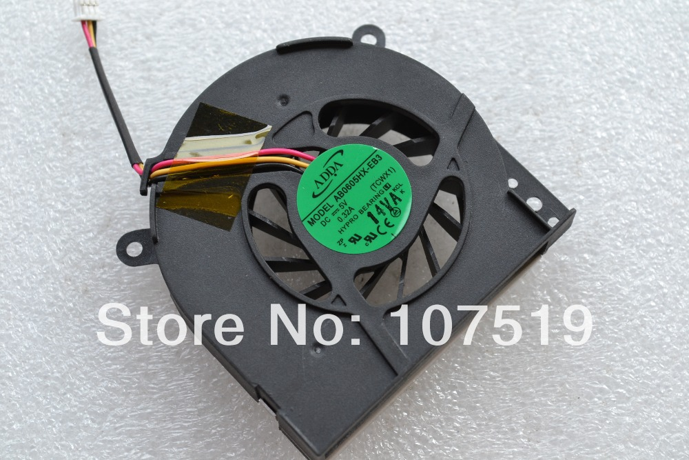 New CPU Cooling Fan For Toshiba Satellite A80 A85 A80L Tecra A3 Tecra S2 ADDA AB0605HX-EB3 DC5V 0.32A Free shipping(China (Mainland))