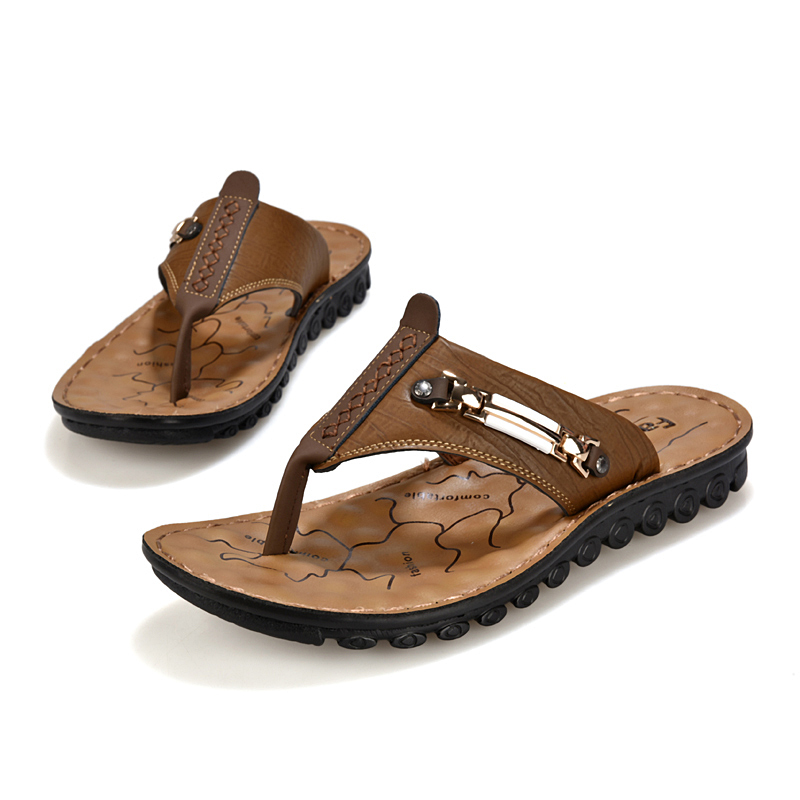 Summer style new men slippers sandals shoes breathable Korean beach fashion toe shipping - Edelman store