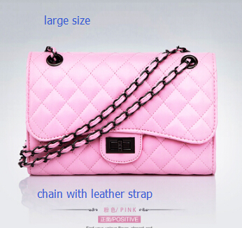 Здесь можно купить  2015 Women Handbag Black Bolsos De Mujer Sac Femme Hand Borse Quilted Leather Crossed Chain Plaid Crossbody Shoulder Bag  Камера и Сумки
