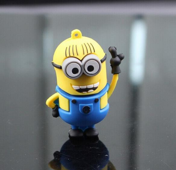 Cute Mr Minions USB Flash Drive 32gb Pen Drive 64gb Memory Stick USB 2.0 Pen Drive U Disk USB Stick Pendrive 16gb 8gb 4gb(China (Mainland))