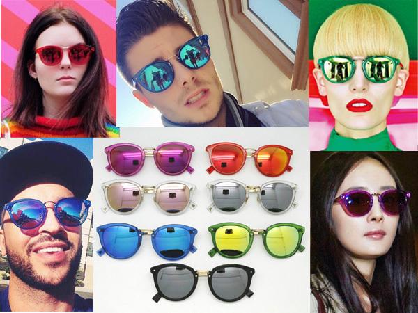 Фотография 2015 fashion haze women and men sunglasses colorful sunglasses lenses for women and men brand designer sunglasses sun glasses