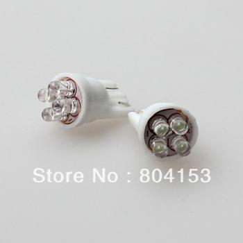 Wholesale FREE SHIPPING 194 168 T10 501 W5W White 4 LED Car side Light Bulb 100PCS