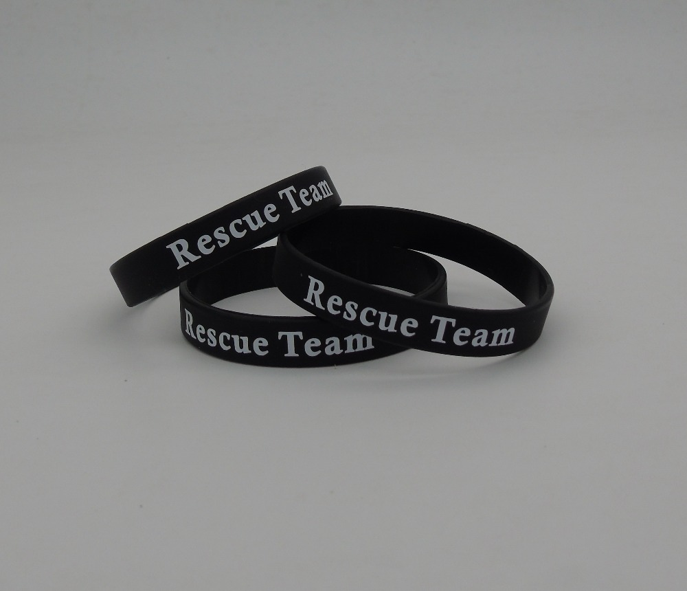 100pcs High Quality Custom personalized silk printing rubber wristbands for events p031305(China (Mainland))