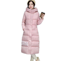 2016 New Winter Warm Thick Women Down Jacket Letter Print Cotton padded Coat Female Slim Hooded