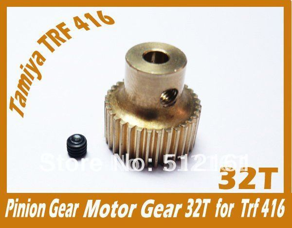 Tamiya Motor gear set 32T  04 Modulus  suit 1:10 RC Tamiya TRF416 TRF417   pinion gear