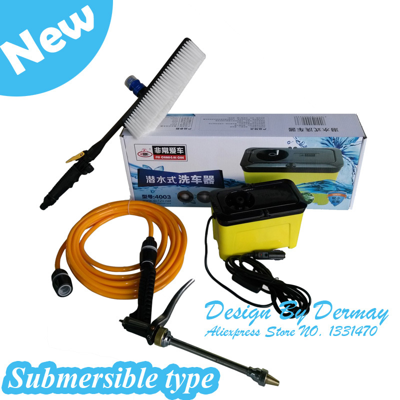 China Famous Brand Car Wash Portable Submersible Pumps Type,High Quality Diving Mini Pressure Washer Free Shipping(China (Mainland))