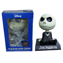 Anime Figure 10 CM The Nightmare Before Christmas jack Wacky Wobbler Bobble Head PVC Action Figure Collectible Model Toy