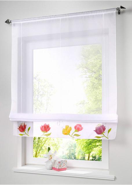 compre r stico cortinas romanas cortinas. Black Bedroom Furniture Sets. Home Design Ideas