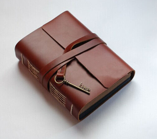 Leather Book Cover Diy ~ Hand made cowhide leather cover vintage european style