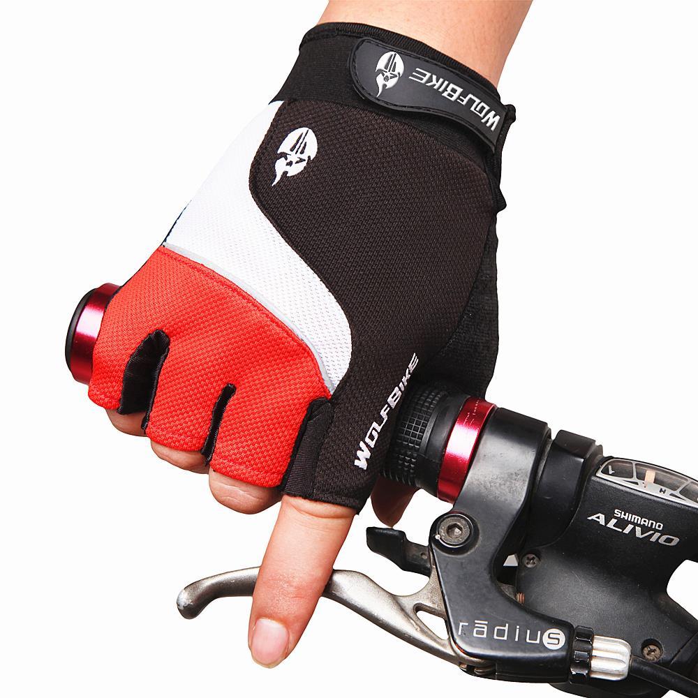 Bontrager Cycling MTB Mountain bike Half finger Bicycle gloves Anti-slip Anti-shock Glove silicone glove men B001(China (Mainland))