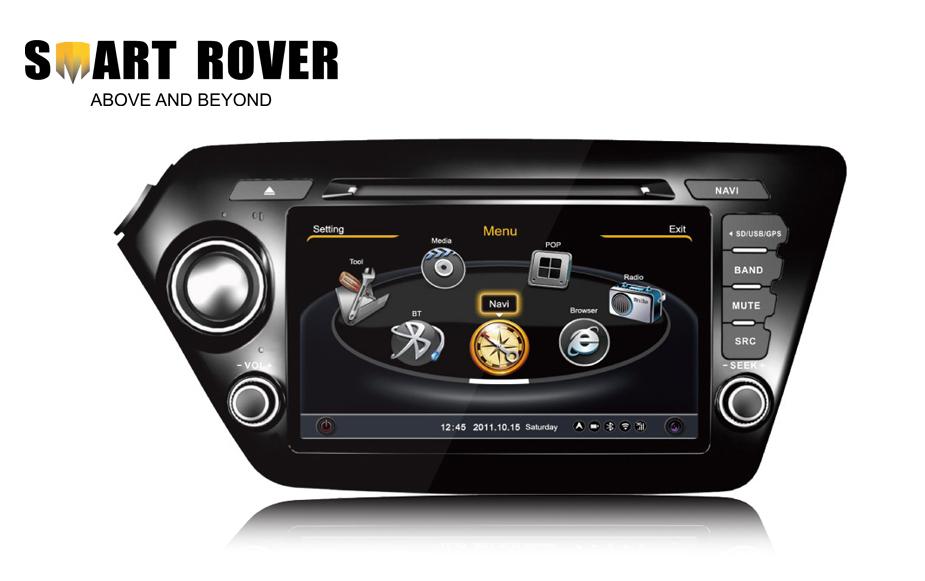 S100 Car DVD Stereo Kia K2 2010 2011 2012 2013 2014 2015 Rio GPS Navigation Audio Video Multimedia RDS Radio - Smart-Rover store