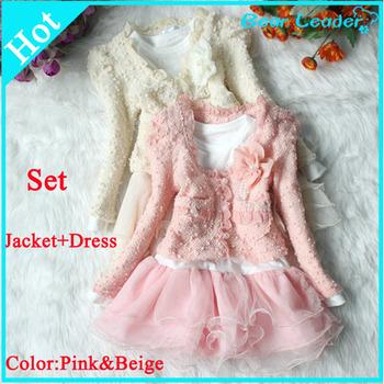 Bear Leader Retail dress+jacket Beautiful Girls  Cardigan and Dimante Dress Tutu baby kids Children clothing