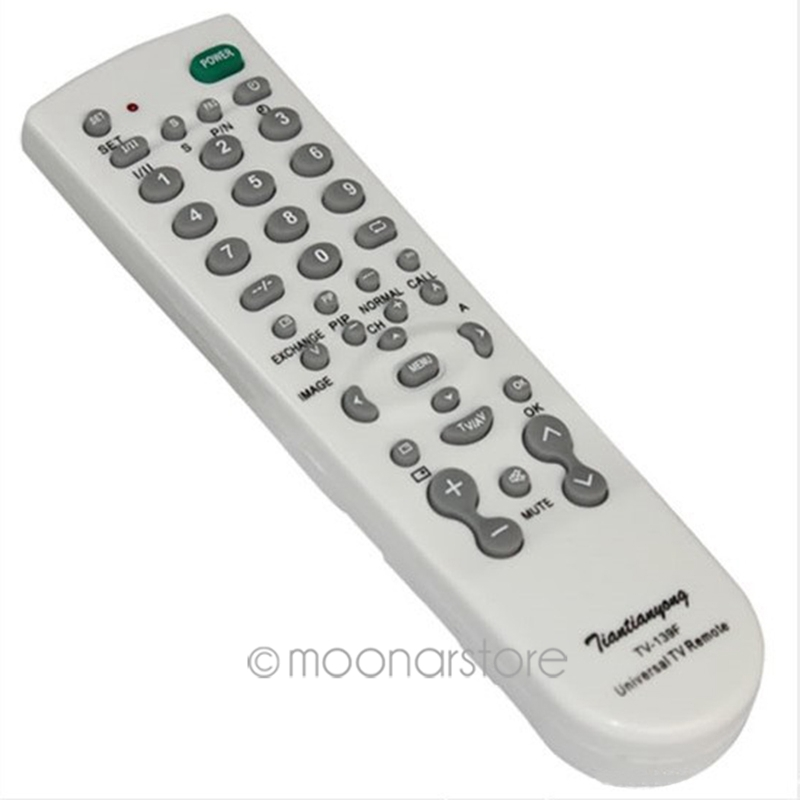 TV Control White Color Universal 2015 New 2x AA batteries Remote Control TV Set TV-139F(China (Mainland))