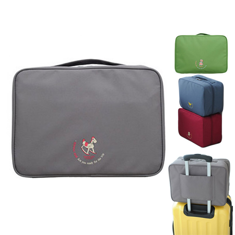 Waterproof Nylon + Mesh Durable Large Capacity Tiered Cubes Box Handbag Travel Luggage Storage Suitcase Bag Container Travel Bag(China (Mainland))