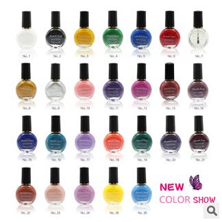 5pcs/lot Professional Painting Konad Stamping Nail Varnish Manicure Lacquer Nail Polish Free shipping(China (Mainland))