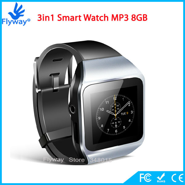 2015 Sport Bluetooth Smart Watch MP3 MP4 Music Player Slim with 1.5'' Touch Screen Video Radio FM Player Micro SD TF Card Slot(China (Mainland))