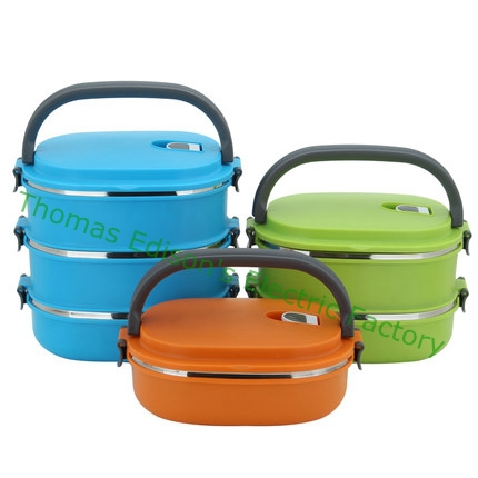 Double layer 2 layer 3 layer Stainless Steel Bento Lunch Box for Kids Thermal Food Container Food Box Portable Lunchbox kitchen(China (Mainland))