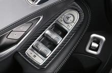 Buy Carbon Fiber Interior Window Lift Button Frame Trim 4pcs Mercedes Benz X253 GLC GLC200 GLC250 GLC300 2016 2017 LHD for $25.75 in AliExpress store