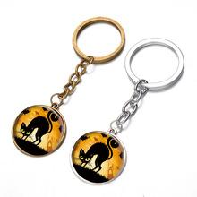 12PCS/lot NEW Key chain Round Cat pendants keychains supplies wholesale gifts customize logo key ring women Keychain car cheap(China (Mainland))
