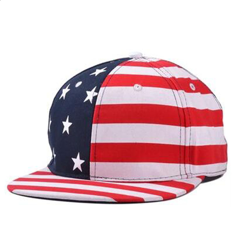 USA. Snapback caps flag, american flag flat hat, star striped mens lady sport hats adjustable baseball hats, black red(China (Mainland))