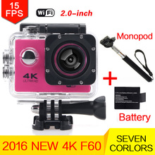 gopro hero 3 New F60 Like Eken H9 Action Camera Ultra HD 4K WiFi 170 Degree Video 30M Diving Underwater Sports Camera HD 1080p
