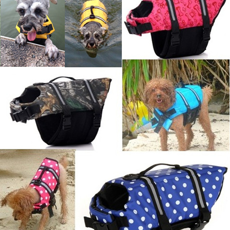 New arrival Pet dogs life jackets Outdoor pet supplies Environmental protection Safety dog clothes Swimming suit(China (Mainland))