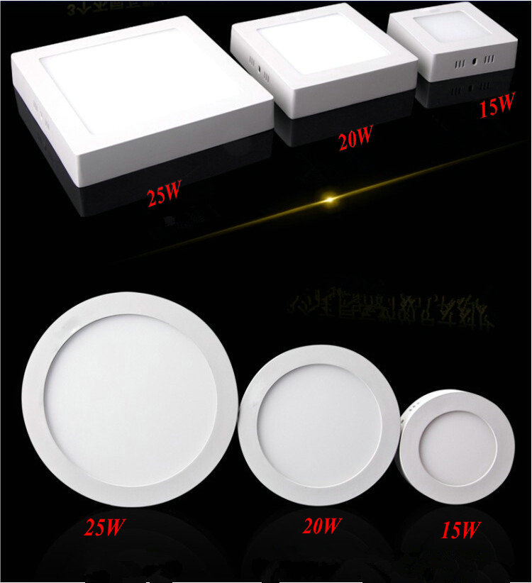 LED ceiling 15w 20w 25w Surface mounted led downlight Square panel light SMD Ultra thin circle ceiling Down lamp kitchen<br><br>Aliexpress