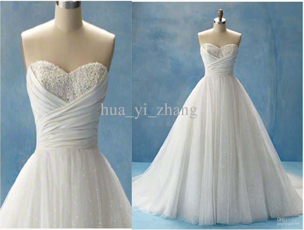 Actual images cinderella beach wedding dresses glitter a for Sparkly beach wedding dresses
