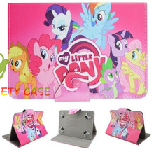 "Lovely Little Pony Mon Petit Poney Universal 7"" Leather Case Cover for Asus FonePad 7 FE170CG FE170 TF170 K012 7 Inch Tablet(China (Mainland))"