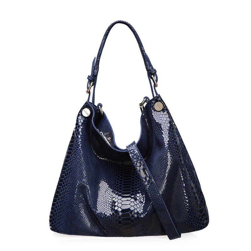 Python pattern cowhide fashion women big business handbags casual genuine leather women messenger bags quality shoulder bag<br><br>Aliexpress