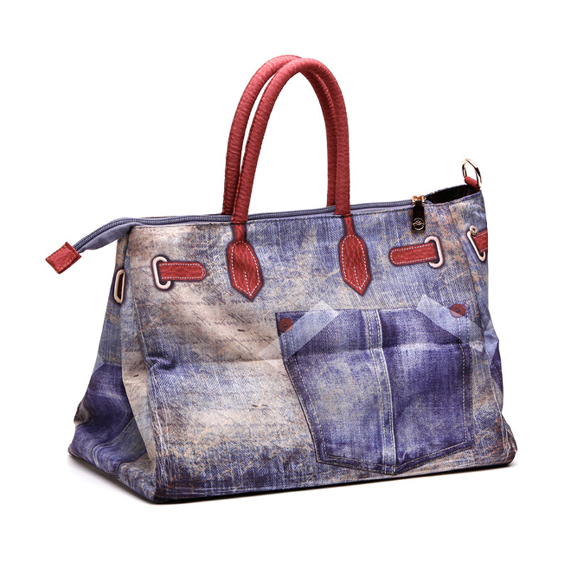Brand Jeans Bag 2015 women Big Bags For Women Vintage Denim Shoulder Bags Jeans Blue Handbags ...
