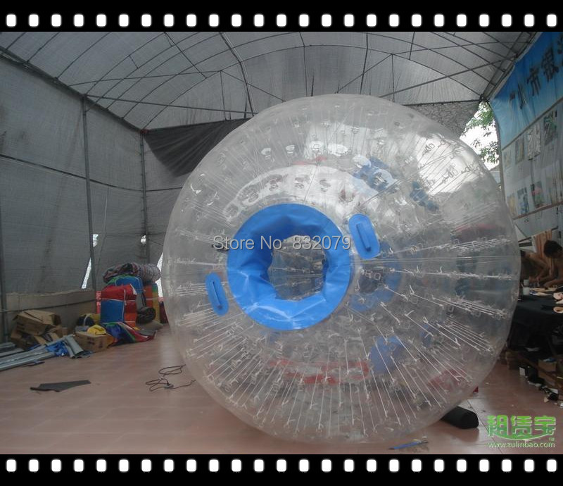 free shipping PVC 2.4M zorb ball,inflatable rolling ball,High quality newest PVC/TPU Inflatable Zorb Ball, wave ball(China (Mainland))