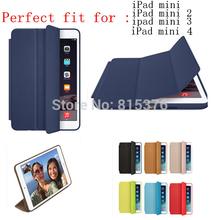 Super Slim Smart Cover for Apple iPad Mini 4 Case iPad Mini 2 3 Original Ultra Flip Leather Stand Case +Gift HD Screen Protector