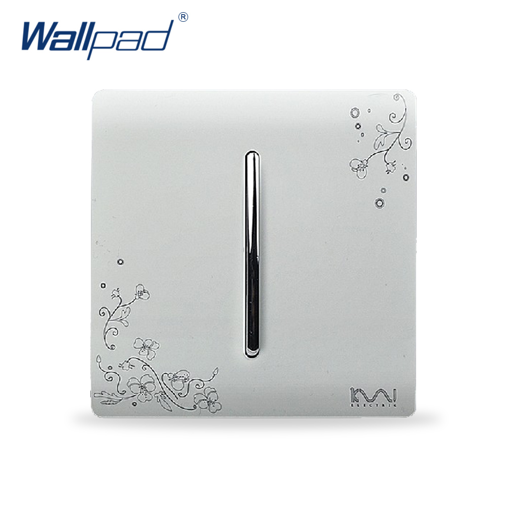 2015 Hot Sale Wholesaler Wallpad Luxury Wall Light Switch Panel Flower Design 110~250V 1 Gang 1 Way Switch(China (Mainland))