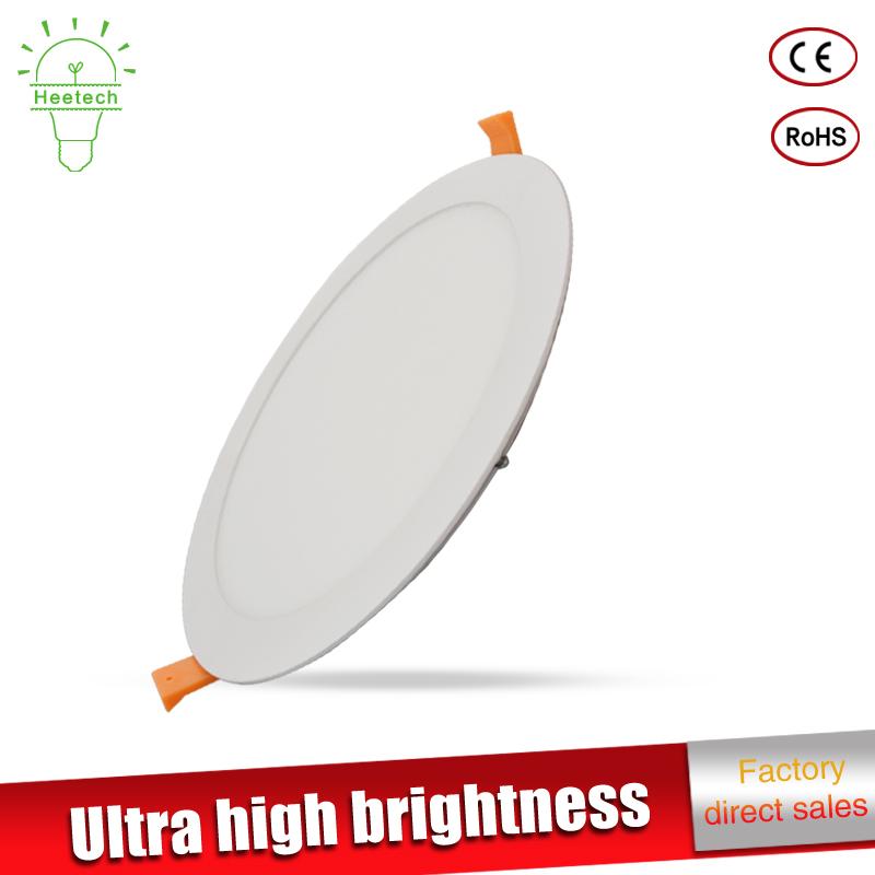Ultra thin led down light led light 3w 6w 9w 12w 15w 18w led ceiling recessed round downlight slim Square panel light(China (Mainland))